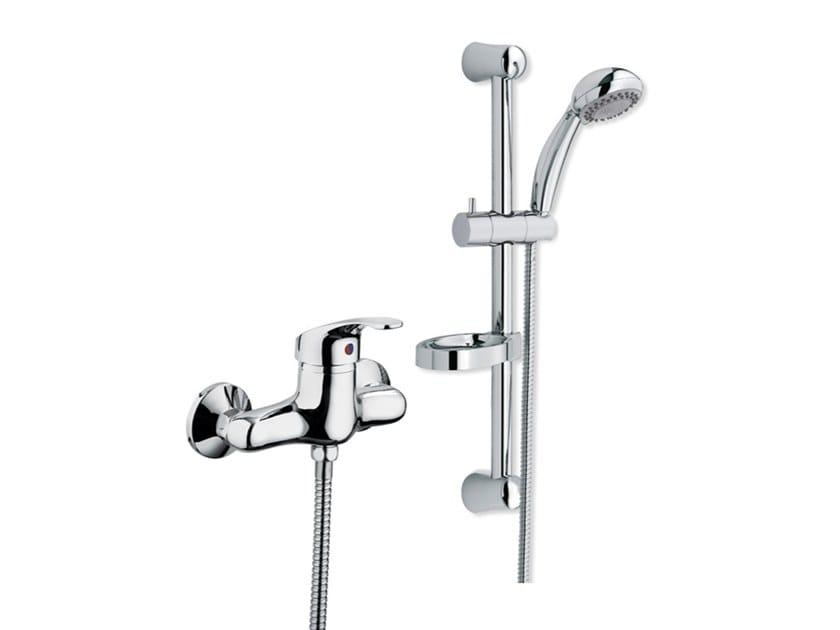 External brass shower mixer with flexible hose SMART | Shower mixer by I Crolla Rubinetterie
