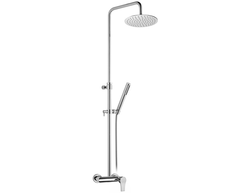 Wall-mounted shower panel with diverter with hand shower FUSION | Shower panel by BIANCHI RUBINETTERIE