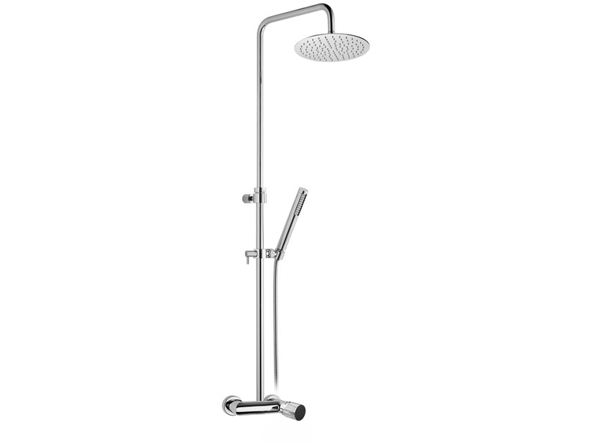 Wall-mounted shower panel with diverter FUSION MONO | Shower panel by BIANCHI RUBINETTERIE