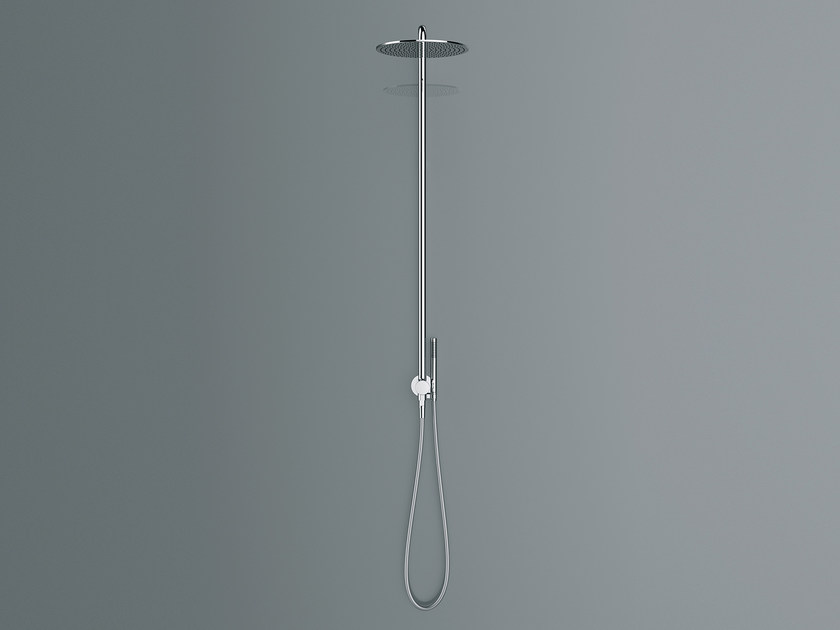 Wall-mounted shower panel with diverter NOW | Shower panel by Fantini Rubinetti