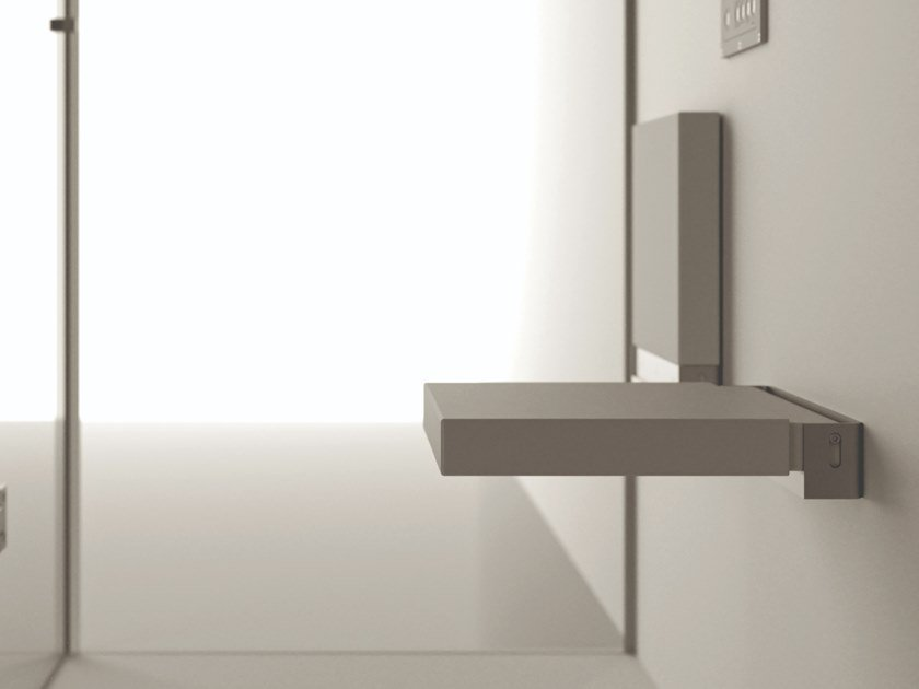 Sedile doccia ribaltabile in Solid Surface SHOWER SEAT by MOMA Design