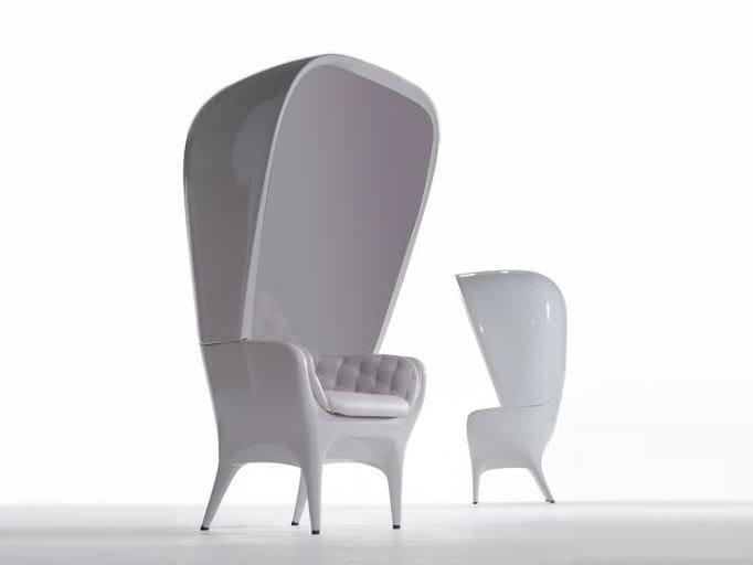 High-back polyethylene armchair SHOWTIME | Armchair by BD Barcelona Design