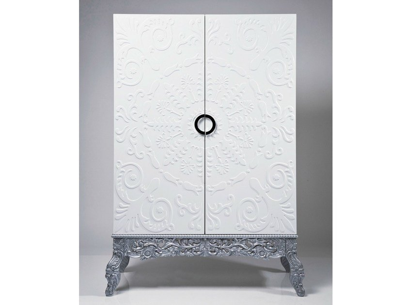 Lacquered MDF highboard with doors SHOWTIME ORNAMENT by KARE-DESIGN