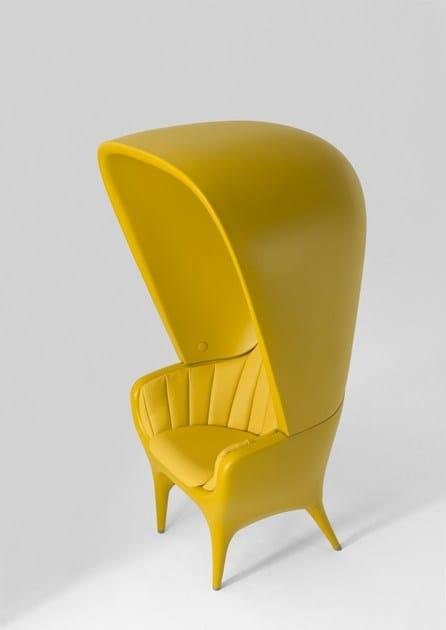 High-back polyethylene armchair SHOWTIME | Upholstered armchair by BD Barcelona Design