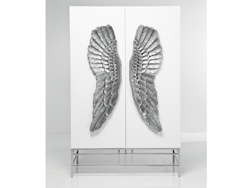 Lacquered MDF highboard with doors SHOWTIME WINGS by KARE-DESIGN