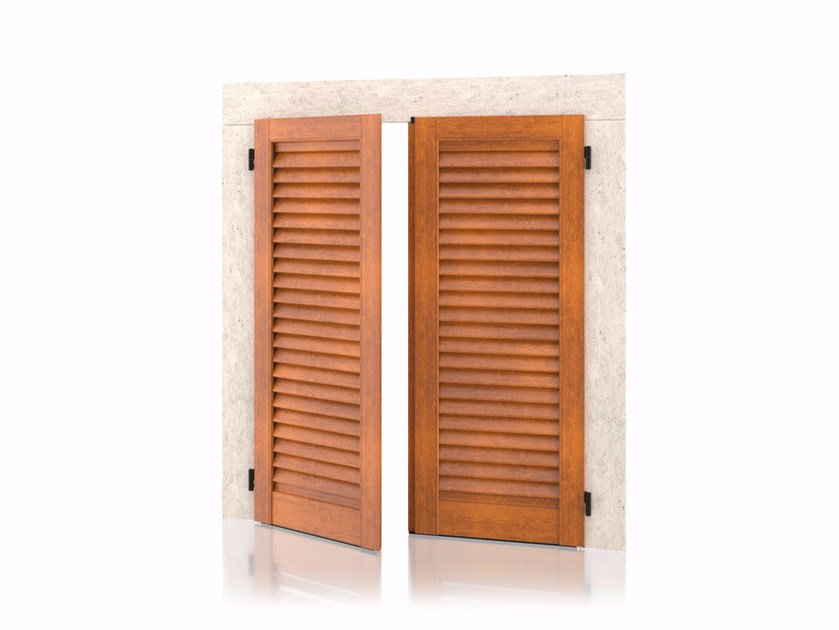 Aluminium shutter with fixed louvers without frame Wall K90  Fixed Slats by Kikau