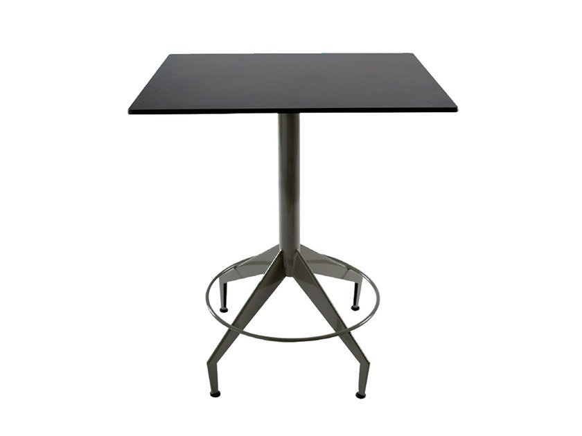 Square iron contract table SHUTTLE | Square table by Vela Arredamenti