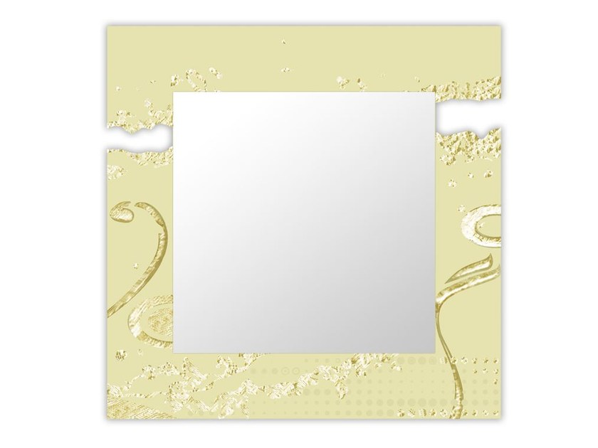 Square wall-mounted framed mirror SI-092Q-SP | Mirror by LAS