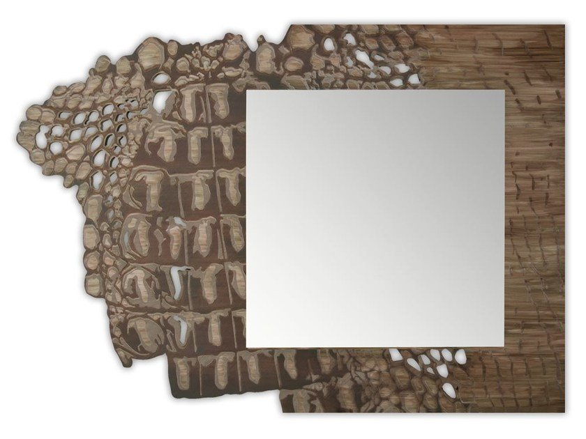Framed square wall-mounted mirror SI-222-SP | Mirror by LAS