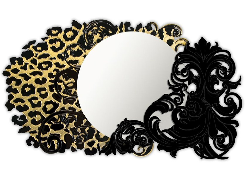 Round wall-mounted framed mirror SI-224-SP | Mirror by LAS