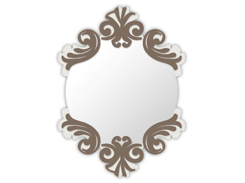 Round wall-mounted framed mirror SI-248-SP | Mirror by LAS