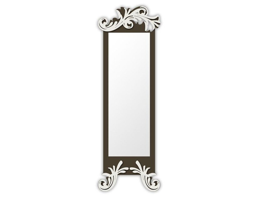 Rectangular wall-mounted framed mirror SI-250-SP | Mirror by LAS