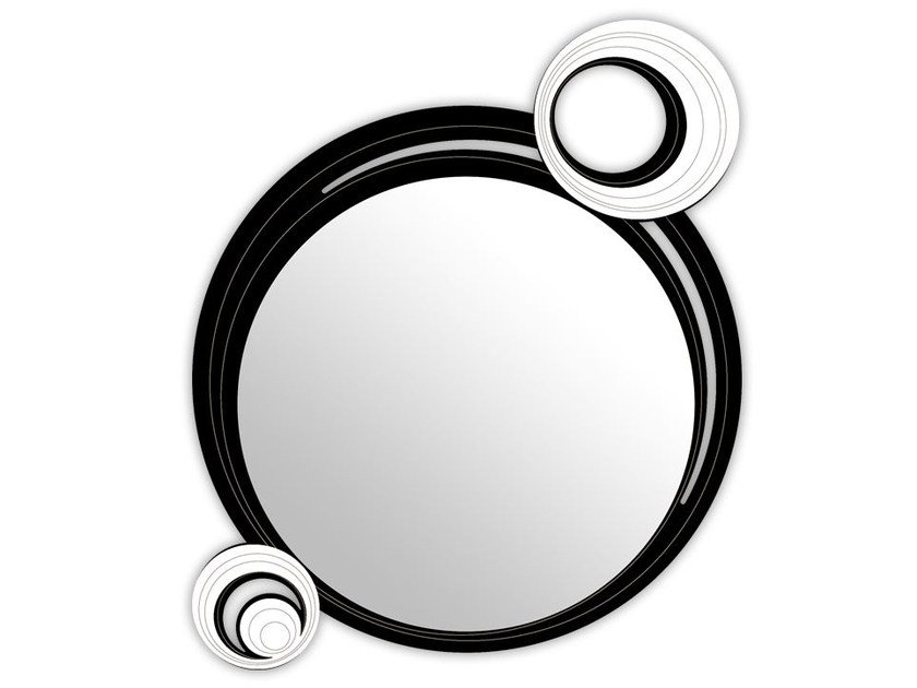 Round wall-mounted framed mirror SI-320 | Mirror by LAS