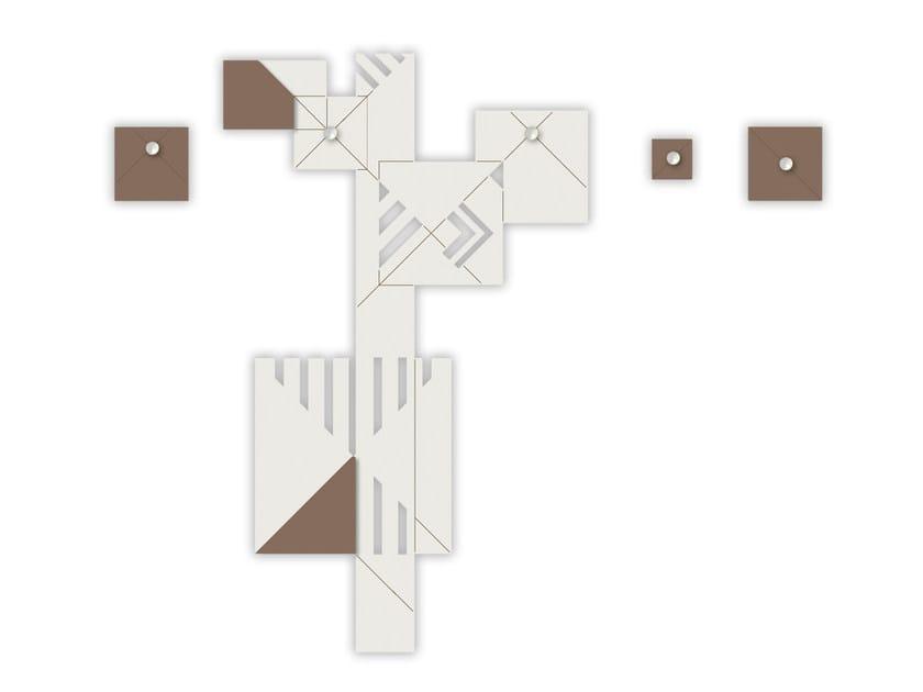 Wall-mounted MDF coat rack SI-366 | Coat rack by LAS