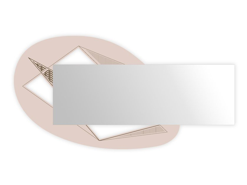 Rectangular wall-mounted framed mirror SI-376 | Mirror by LAS