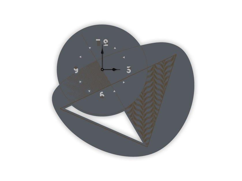 Wall-mounted MDF clock SI-377 | Clock by LAS