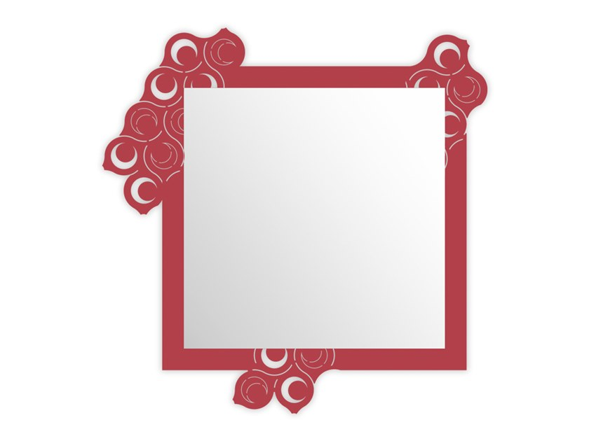 Wall-mounted framed mirror SI-420 | Mirror by LAS