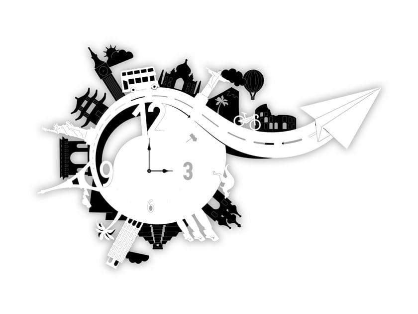 Wall-mounted MDF clock SI-461 | Clock by LAS