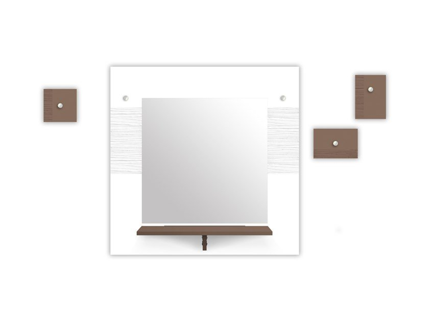 MDF mirror / coat rack SI-471-M3 | Mirror by LAS