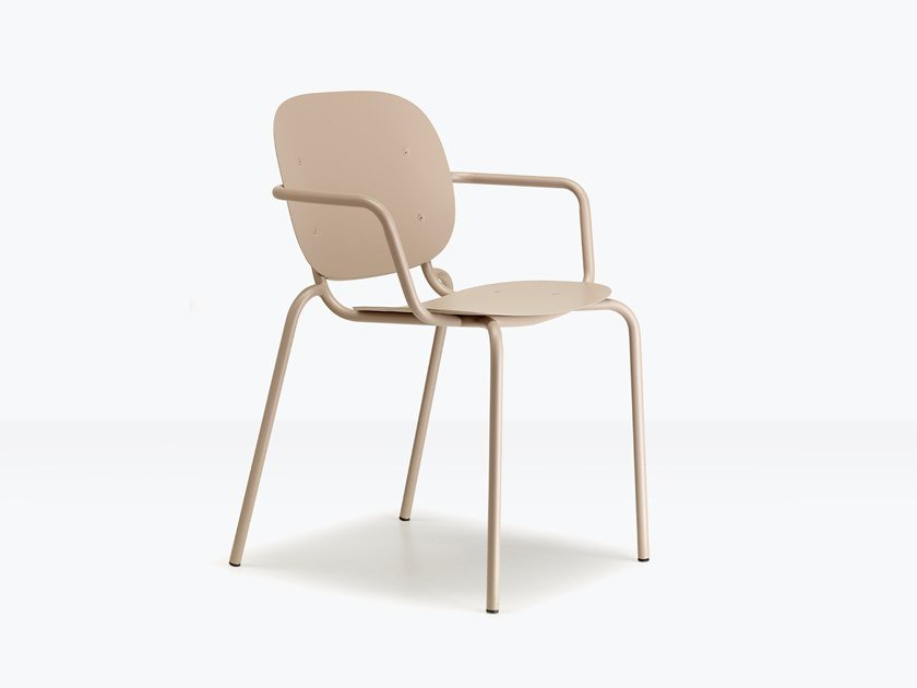 Steel chair with armrests SI-SI by SCAB DESIGN
