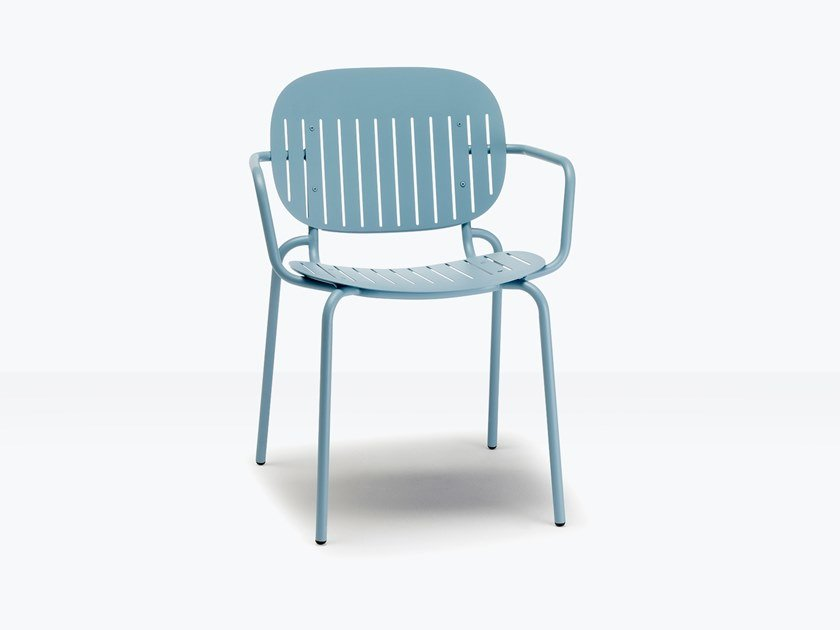 Steel chair with armrests SI-SI BARCODE by SCAB DESIGN