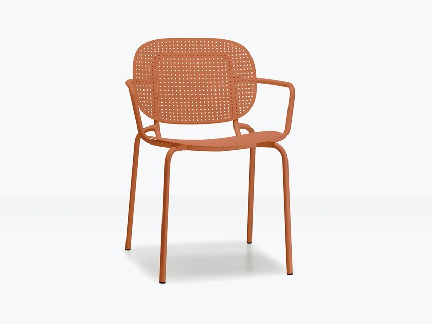 Steel chair with armrests SI-SI DOTS | Chair with armrests by SCAB DESIGN