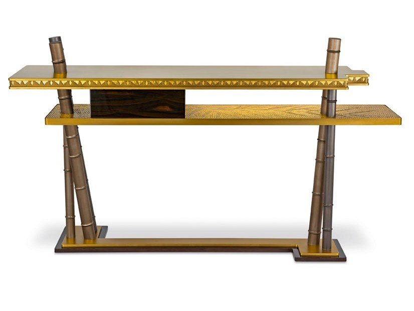 Rectangular brass console table SIAM | Console table by Sicis