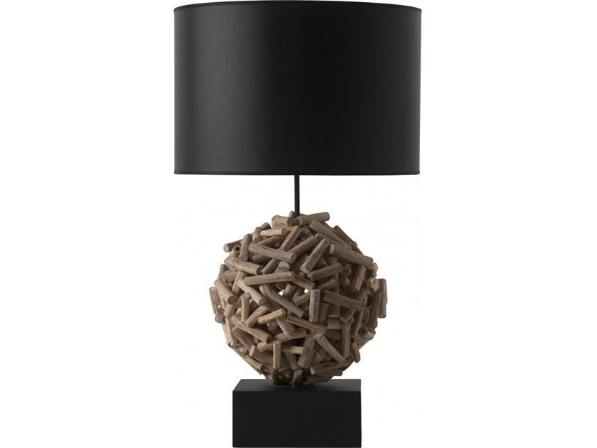 Wooden table lamp SIAM by Flam & Luce