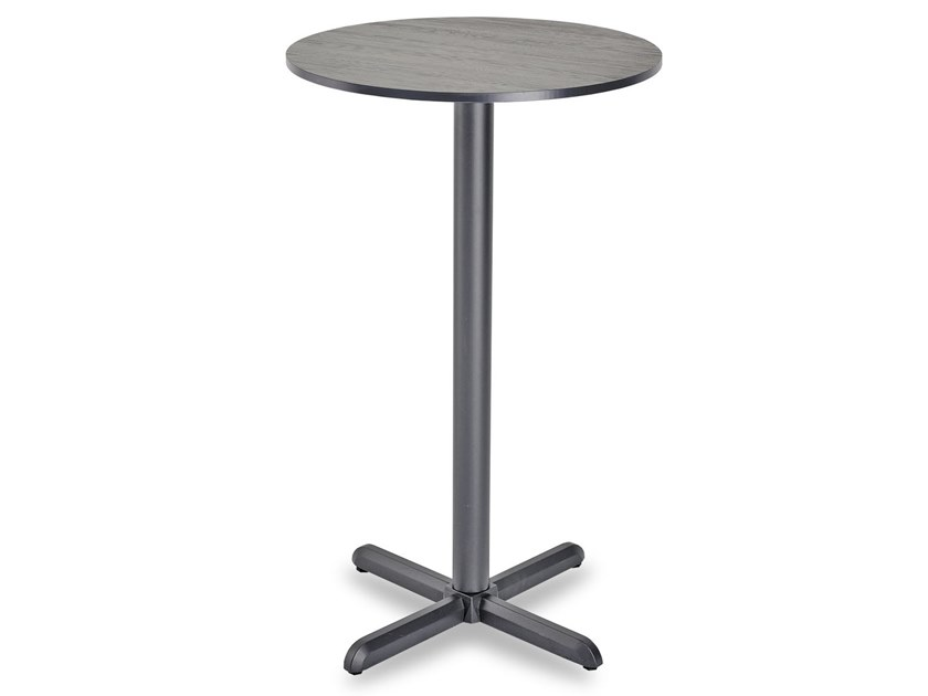 Round high table with 4-star base DIAMANTE HIGH   Round table by Garden Tech