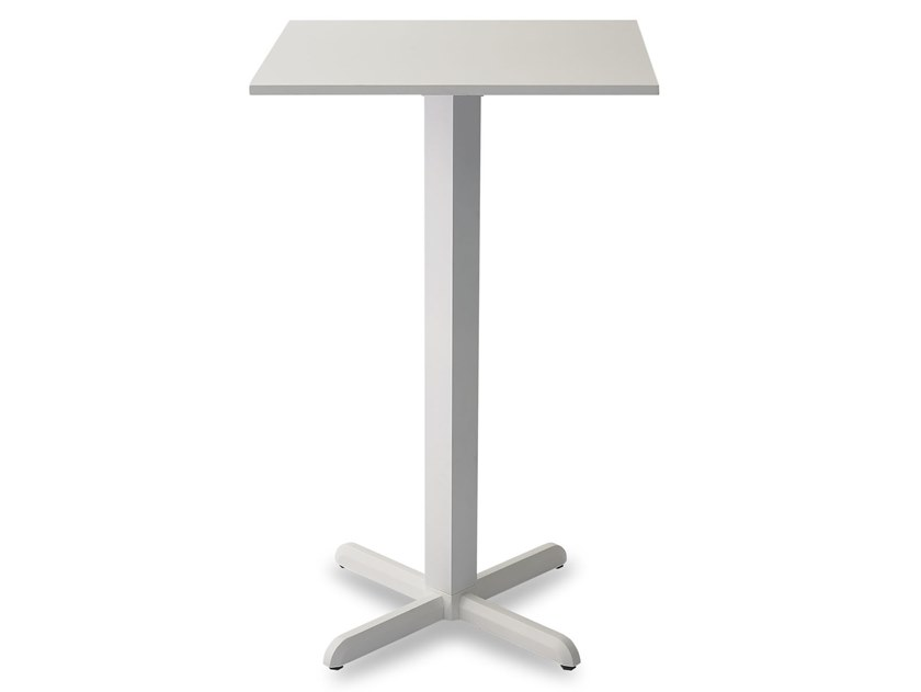 Square high table with 4-star base DIAMANTE HIGH | Square table by Garden Tech
