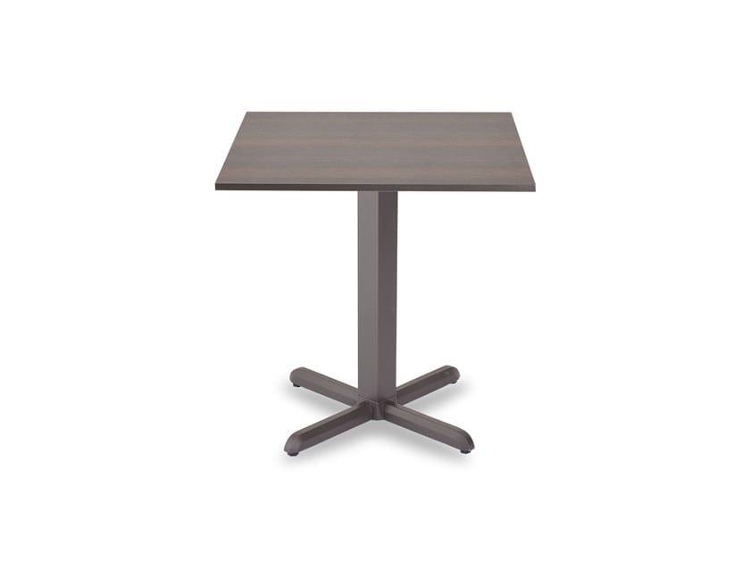 Square garden table with 4-star base DIAMANTE | Square table by Garden Tech