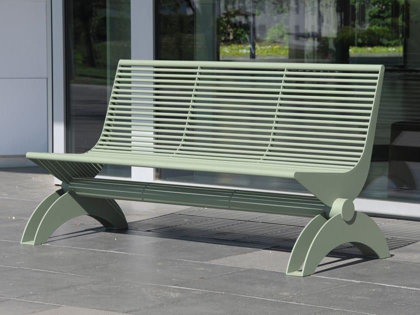 Panchina in acciaio inox con schienale SIARDO 1300 R | Panchina con schienale by BENKERT BANKE