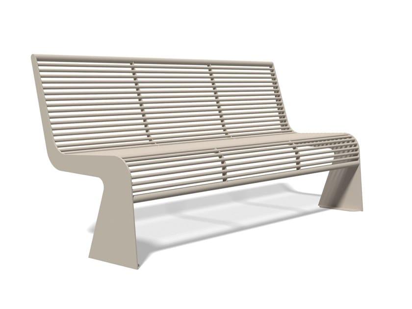 Panchina in acciaio inox con schienale SIARDO 20 R   Panchina con schienale by BENKERT BANKE
