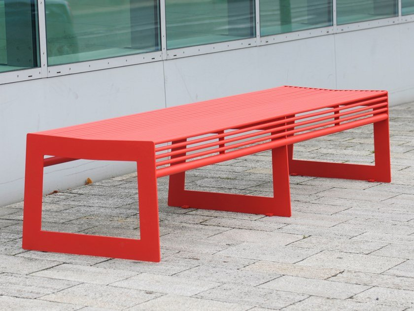 Panchina in acciaio inox senza schienale SIARDO 30 R | Panchina by BENKERT BANKE
