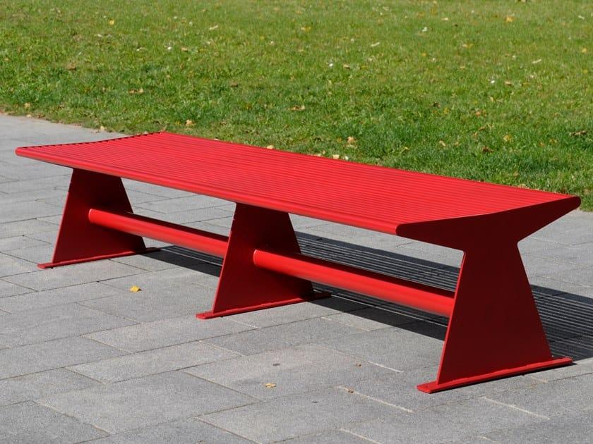 Panchina in acciaio inox senza schienale SIARDO 40 R | Panchina by BENKERT BANKE