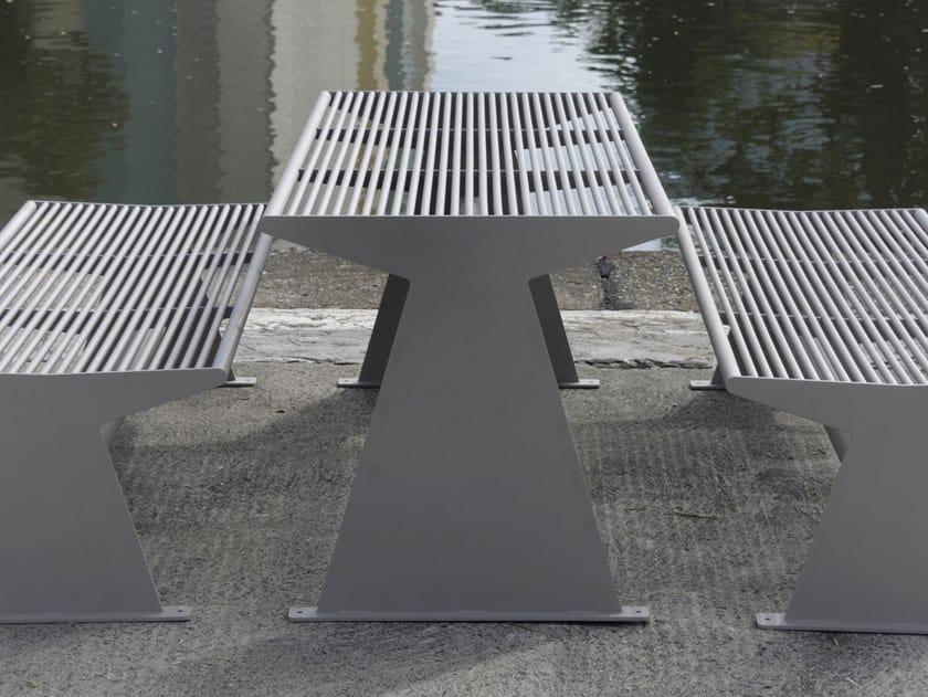 Tavolo per spazi pubblici rettangolare in acciaio inox SIARDO 40 R   Tavolo per spazi pubblici by BENKERT BANKE