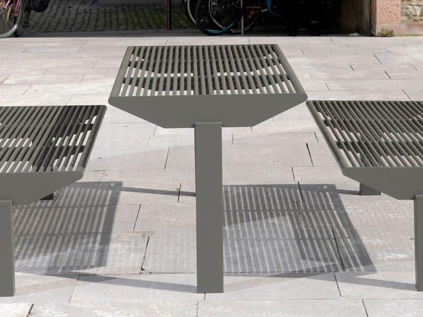 Tavolo per spazi pubblici rettangolare in acciaio inox SIARDO 50 R   Tavolo per spazi pubblici by BENKERT BANKE