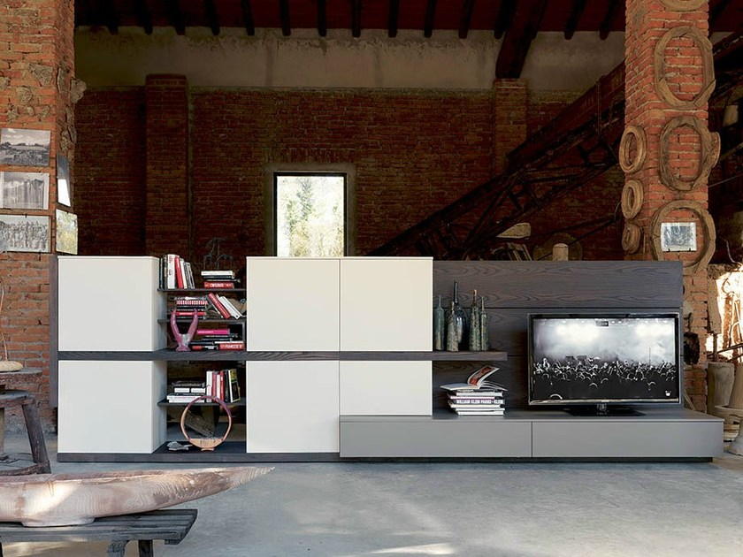 Freestanding TV wall system SIDE 12 by Fimar