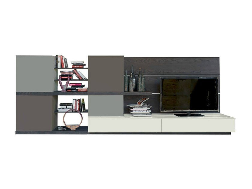 Freestanding TV wall system SIDE 13 by Fimar