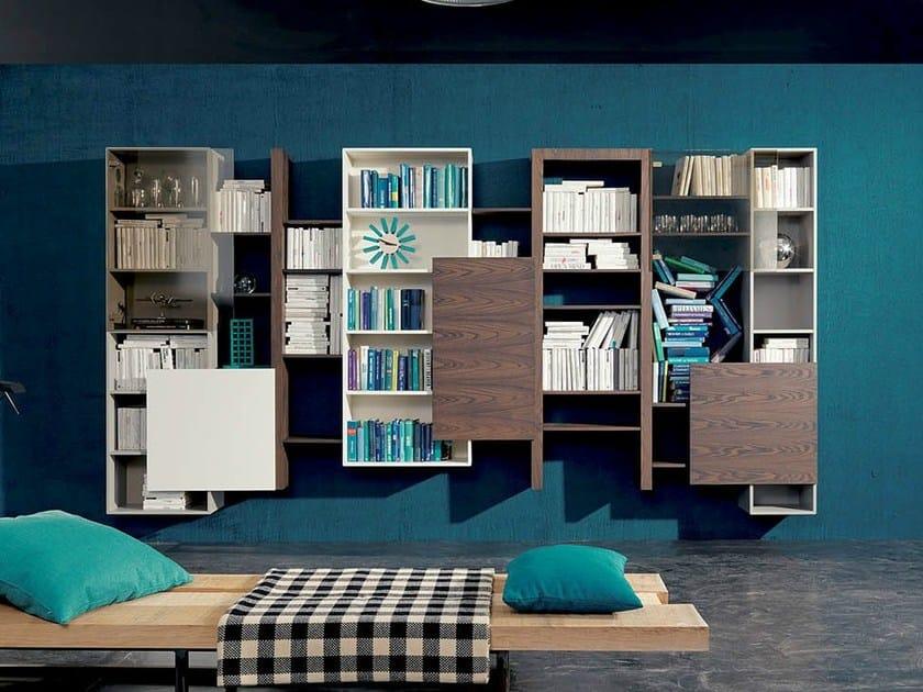 Libreria a parete sospesa SIDE 15 By Fimar
