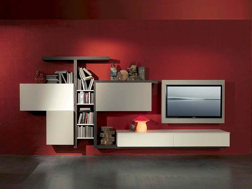 TV wall system SIDE 3 by Fimar