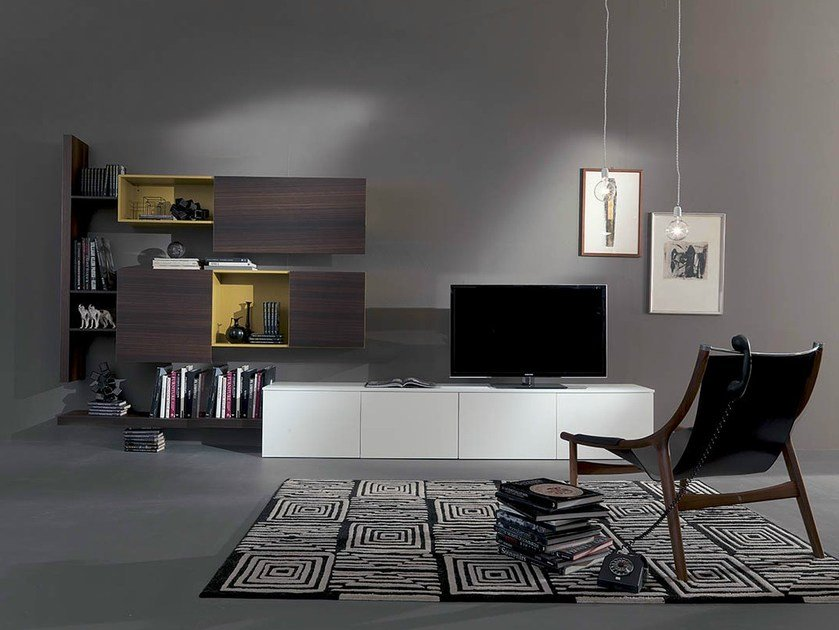 Lacquered storage wall SIDE 4 by Fimar