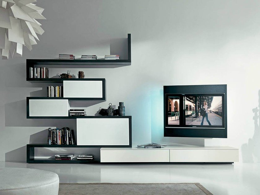 TV wall system SIDE 9 by Fimar