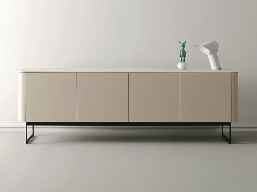 Lacquered wooden sideboard with doors SIDE | Lacquered sideboard by Caccaro