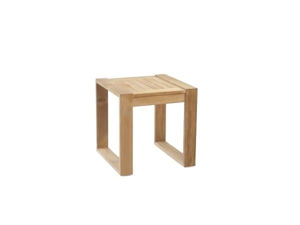 Square teak garden side table BAKGARDEN | Side table by 7OCEANS DESIGNS
