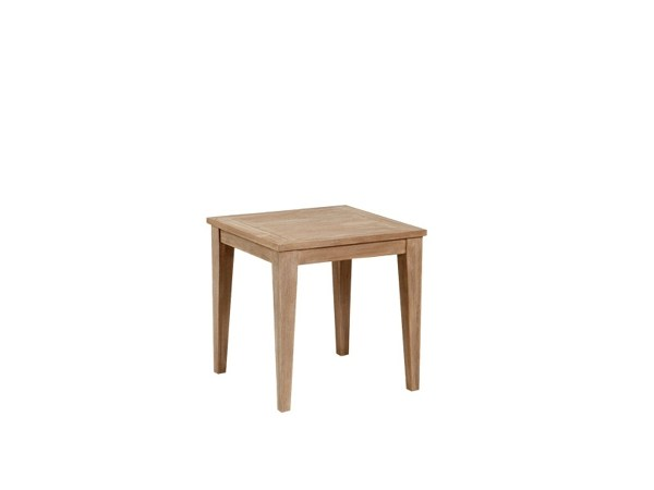 Square wooden garden side table PRAGUE | Side table by 7OCEANS DESIGNS