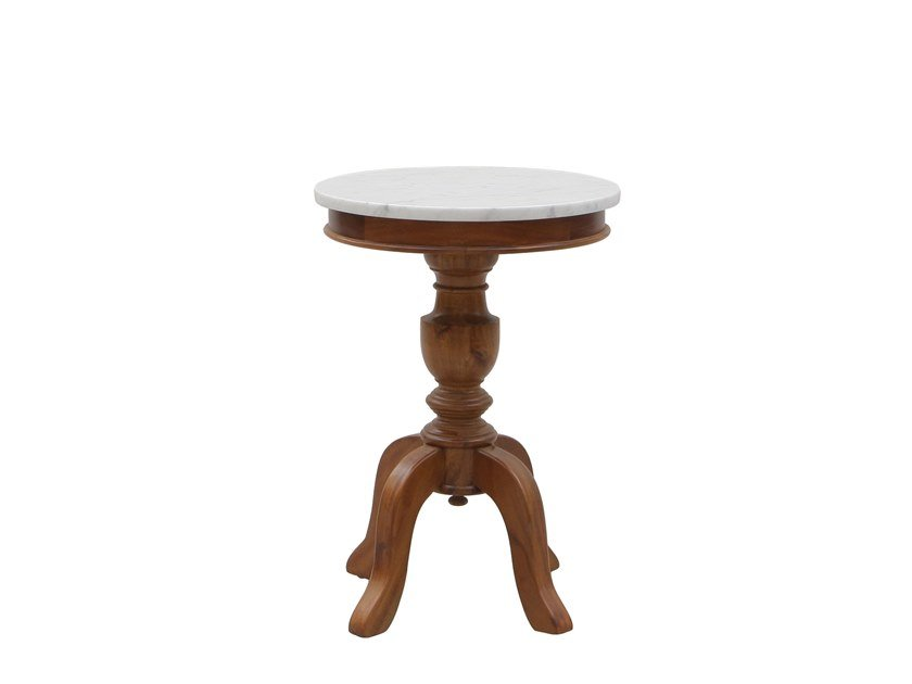 Round side table MOZAIC - WALNUT | Side table by Il Giardino di Legno