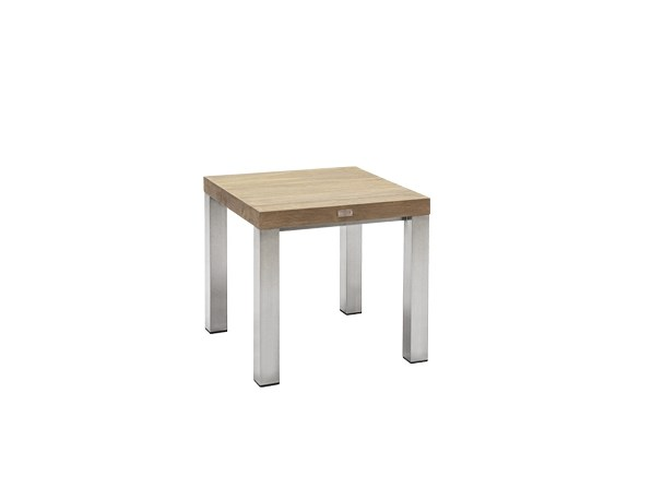 Square teak garden side table ORIGIN | Side table by 7OCEANS DESIGNS
