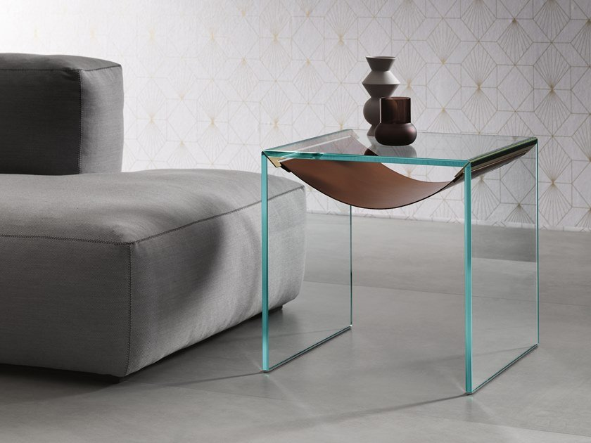 Square glass side table AMACA | Side table by Tonelli Design