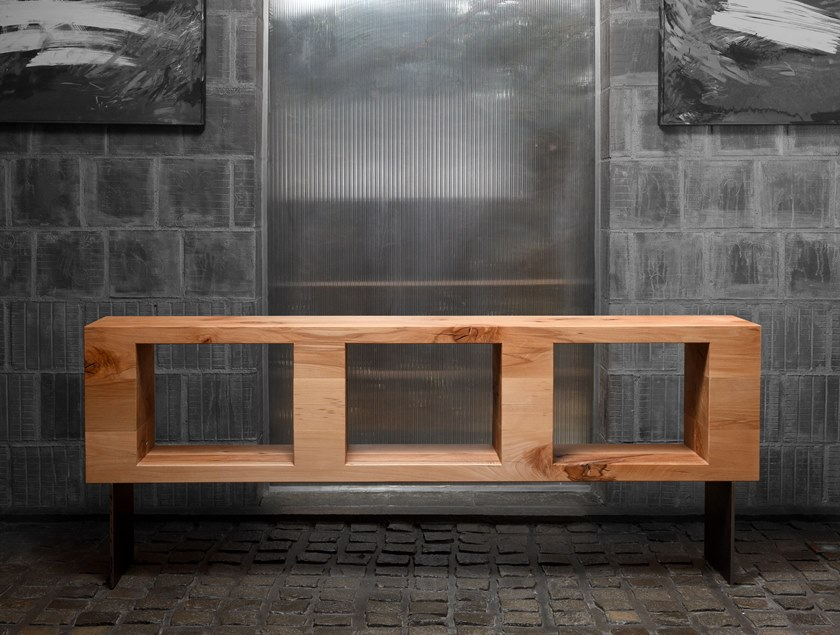 Table Console Rectangulaire En Hetre Sideboard 02 By Nature Systems